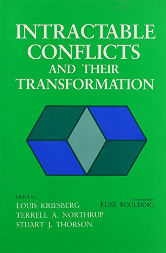 9780815624776: Intractable Conflicts and Their: Transformation (Syracuse Studies on Peace and Conflict Resolution)