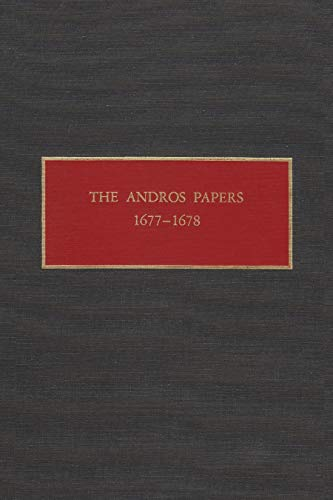 The Andros Papers 1677-78: Peter R. Christoph