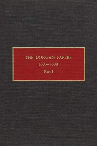 The Dongan Papers, 1683-1688 (Hardcover): Peter Christoph