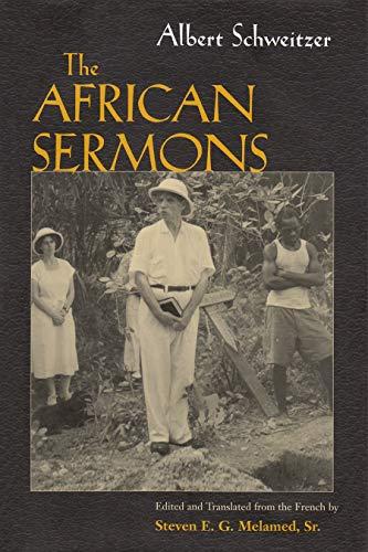 9780815629207: Albert Schweitzer's African Sermon (Albert Schweitzer Library)