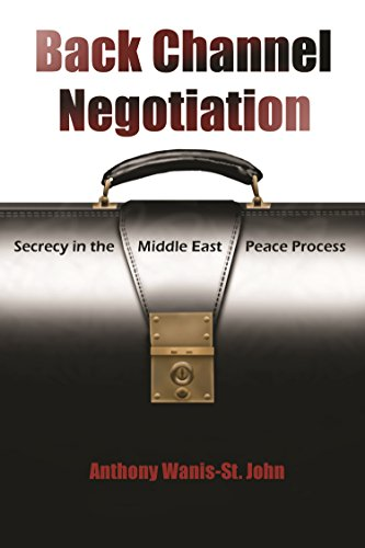 Back Channel Negotiation Secrecy in the Middle East Peace Process Syracuse Studies on Peace and ...