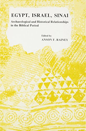 9780815670544: Egypt, Israel, Sinai: Archaeological and Historical Relationships in the Biblical Period
