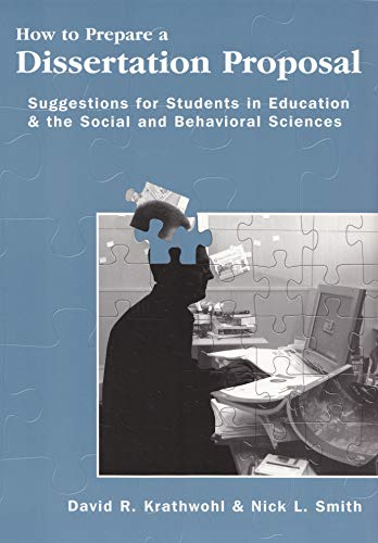 9780815681410: How To Prepare A Dissertation Proposal: Suggestions for Students in Education & the Social and Behavioral Sciences
