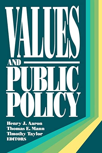 9780815700555: Values and Public Policy