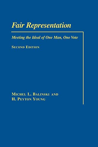 9780815701118: Fair Representation: Meeting the Ideal of One Man, One Vote