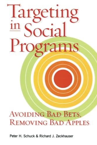 Targeting in Social Programs: Avoiding Bad Bets, Removing Bad Apples (0815704283) by Peter H. Schuck; Richard J. Zeckhauser