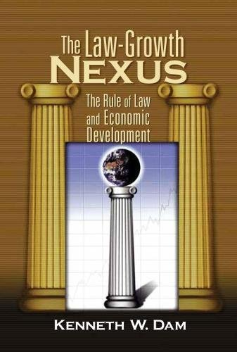 The Law-Growth Nexus The Rule of Law and Economic Development