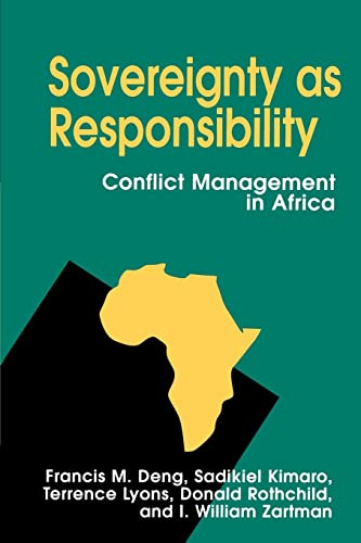 9780815718277: Sovereignty as Responsibility: Conflict Management in Africa
