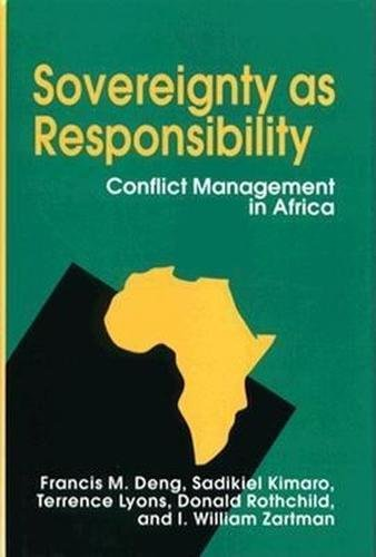 9780815718284: Sovereignty As Responsibility: Conflict Management in Africa