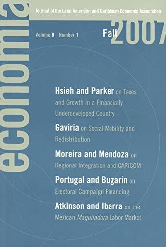 Economia Fall 2007: Journal of the Latin: Eduardo Engel, Francisco