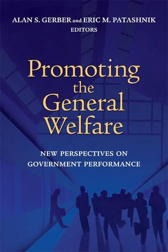 9780815731207: Promoting the General Welfare: New Perspectives on Government Performance