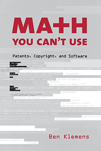 9780815733638: Math You Can't Use: Patents, Copyright, and Software
