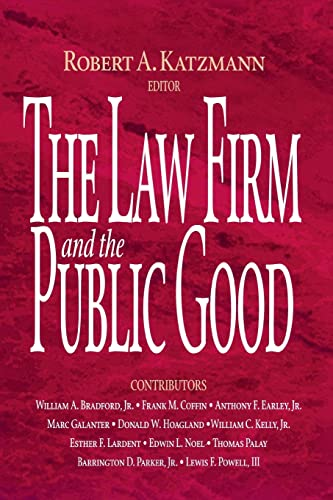 9780815748632: The Law Firm and the Public Good