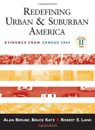 Redefining Urban and Suburban America: Evidence from Census 2000 (Hardback)