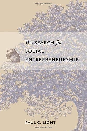 The Search for Social Entrepreneurship (Hardback): Paul C. Light