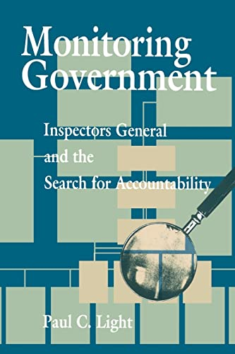 9780815752554: Monitoring Government: Inspectors General and the Search for Accountability