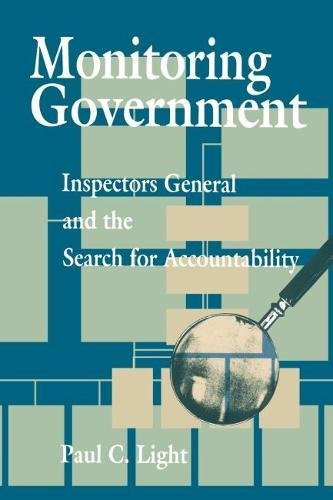 9780815752561: Monitoring Government: Inspectors General and the Search for Accountability