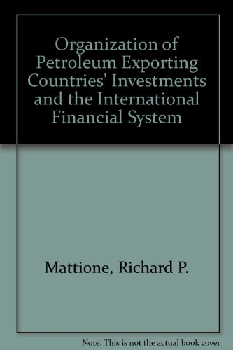 9780815755104: Opec's Investments and the International Financial System