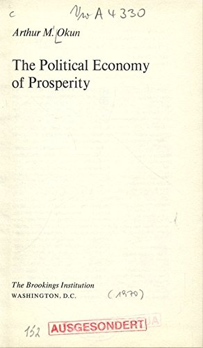 9780815764786: Political Economy of Prosperity