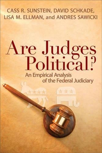 9780815782346: Are Judges Political?: An Empirical Analysis of the Federal Judiciary