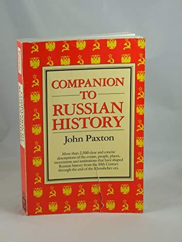 9780816011926: Companion to Russian History