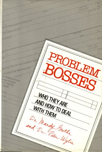 9780816012640: Problem Bosses: Who They Are and How to Deal With Them