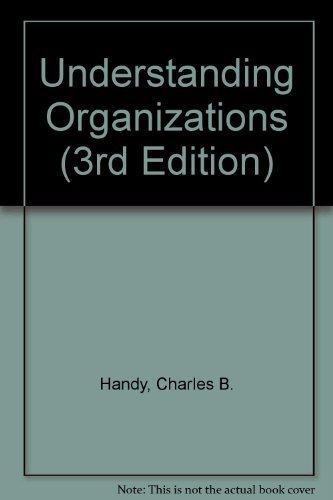 9780816013906: Understanding Organizations (3rd Edition)