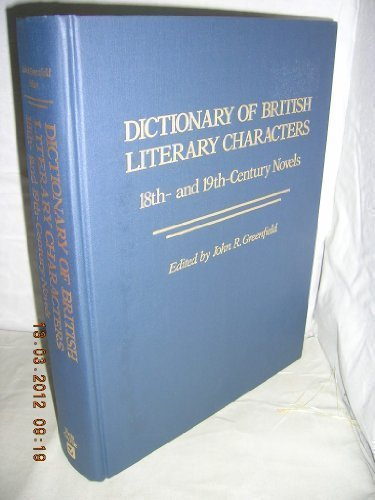 9780816021796: Dictionary of British Literary Characters: 18Th- And 19Th-Century Novels (Vol 1)
