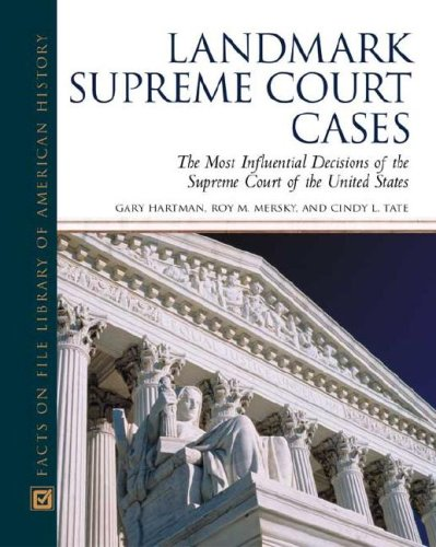 9780816024520: Landmark Supreme Court Cases: The Most Influential Decisions of the Supreme Court of the United States (Facts on File Library of American History)**OUT OF PRINT**