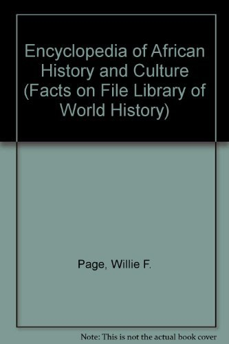 9780816044726: Encyclopedia of African History and Culture (Facts on File Library of World History - 3 Vol. Set)