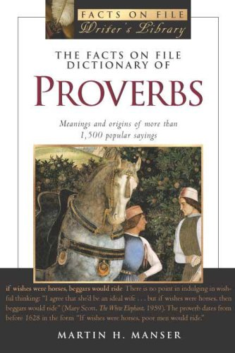 9780816046089: The Facts on File Dictionary of Proverbs (Facts on File Writer's Library)