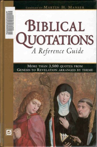 9780816046546: Biblical Quotations: A Reference Guide