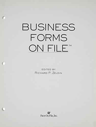 Business Forms on File& #153; , 2003 Update (Business Forms on File (Updates)) (0816051100) by Facts on File Inc