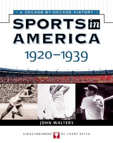 Sports in America 9780816052356 This invaluable resource thoroughly documents this exciting period in history, when sports became more and more common. Organized by year, Sports in America: 1920 to 1939 covers every sport popular during this time, from swimming to college baseball. More than 35 black-and-white photographs, further resources, and easy-to-use indexes make this a perfect reference for quick and accurate information.