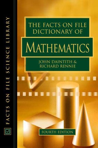 9780816056514: The Facts on File Dictionary of Mathematics (Facts on File Science Dictionary Series.)