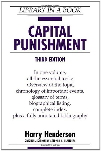 an overview of the objectives of capital punishment in the united states