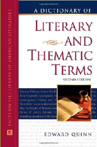 9780816062430: A Dictionary of Literary and Thematic Terms