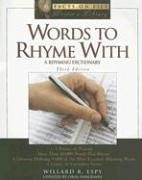 9780816063048: Words to Rhyme with: A Rhyming Dictionary (Facts on File Writer's Library)