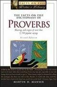 9780816066742: The Facts on File Dictionary of Proverbs (Facts on File Writer's Library)