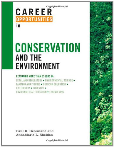 9780816067428: Career Opportunities in Conservation and the Environment
