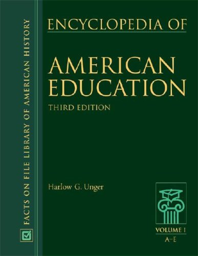 9780816068876: Encyclopedia of American Education (Facts on File Library of American History)