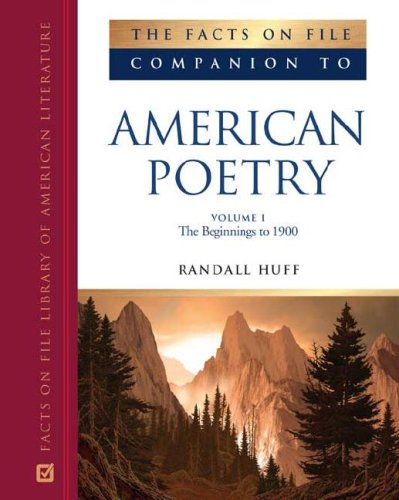 9780816069507: The Facts on File Companion to American Poetry (Facts on File Companion to Literature)