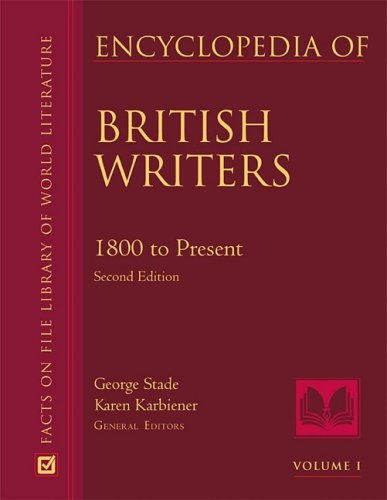 9780816073856: Encyclopedia of British Writers, 1800 to the Present (2 Vol Set)