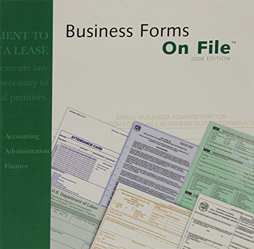 Business Forms On File, 2008 Edition