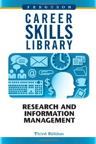 9780816077779: Research and Information Management (Career Skills Library)