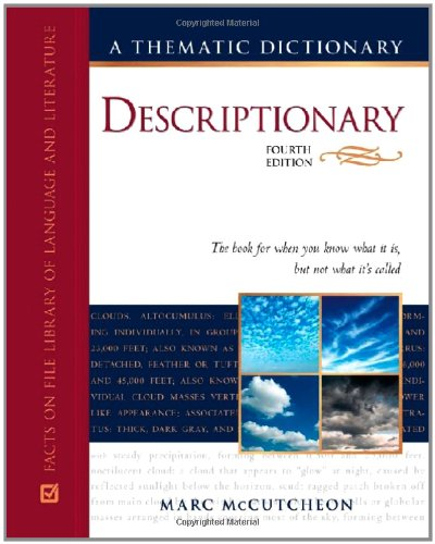9780816079469: Descriptionary: A Thematic Dictionary (Facts on File Library of Language and Literature)