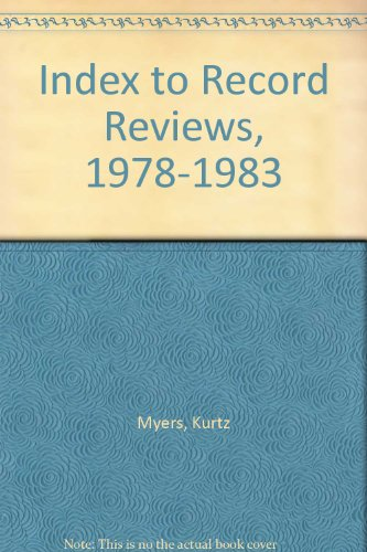 9780816104352: Index to Record Reviews, 1978-1983