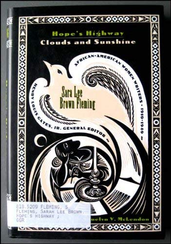 9780816116256: Hope's Highway, Clouds and Sunshine: Clouds and Sunshine (African-American Women Writers, 1910-1940)