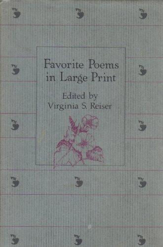 Favorite Poems in Large Print