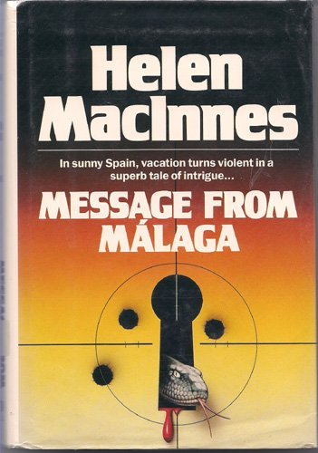 9780816141494: Message from Malaga (G K Hall Large Print Book Series)